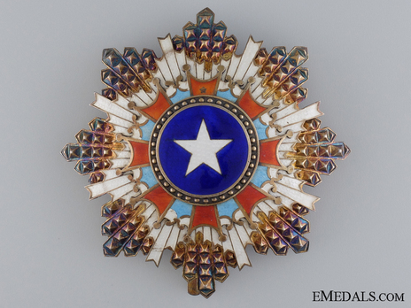 Order of the Brilliant Star, III Class Star Obverse