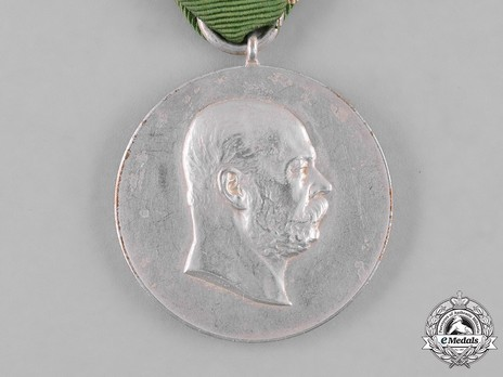 "Medal for 50 Years of Reign, in Silver (stamped ""M.HASEROTH"")"