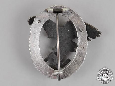 Observer Badge, by C. E. Juncker (in aluminum) Reverse