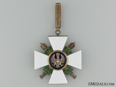 Order of the Roman Eagle, Grand Officer's Cross (with wreath and swords) Obverse