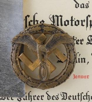 German Motor Sports Badge, in Iron Obverse
