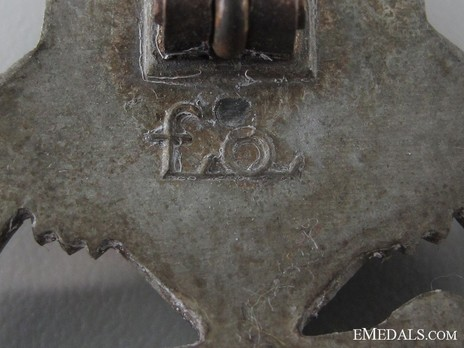 Panzer Assault Badge, in Bronze, by F. Orth Detail