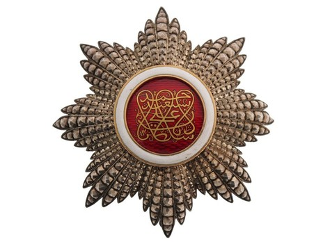 Order of the Brilliant Star of Zanzibar, Type III, II Class Officer Breast Star Obverse