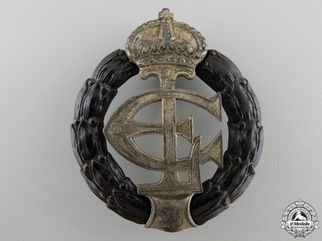 War Honour Decoration, 1917 (with pin back) (in blackened iron and war material) Obverse