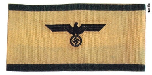 German Army Air Defense Leader of the Army Armband Obverse