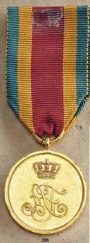 Merit Medal, Type I, Gold Medal (in silver gilt)
