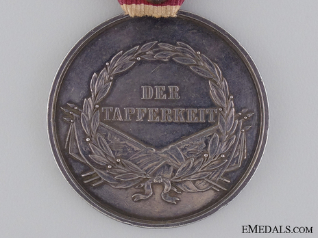 Type VI, I Class Silver Medal (with left facing profile & mustache) Reverse