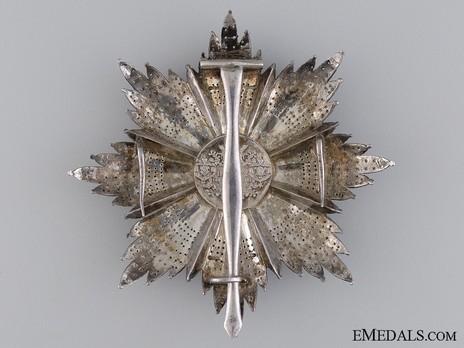 Royal Order of Merit of St. Michael, I Class Cross Breast Star (1860-1870) Reverse
