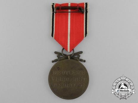 Bronze Merit Medal with Swords Reverse