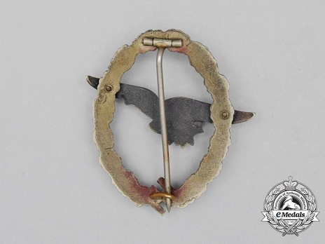Glider Pilot Badge, by C. E. Juncker (in tombac) Reverse
