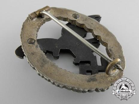 Observer Badge, by Assmann (in nickel silver) Reverse