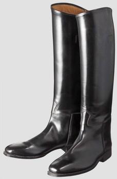 Allgemeine SS Black Leather Boots Obverse