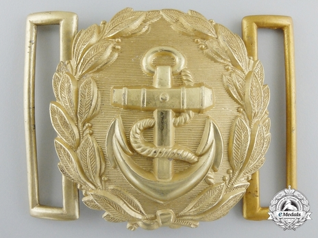 Kriegsmarine Officer's Brocade Dress Belt Buckle Obverse
