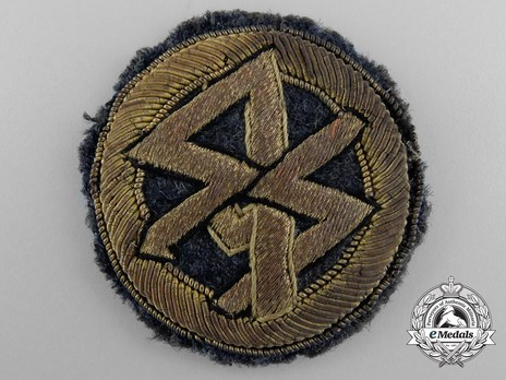 DLV Tradition Badge for Former Members of SS and SA Fliegerstürme, in Gold Obverse