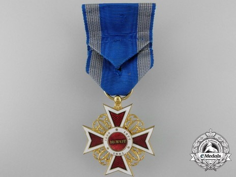Order of the Romanian Crown, Type I, Civil Division, Officer's Cross Reverse