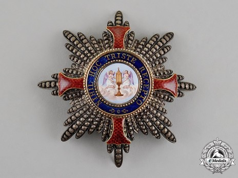 Order of the Redeemer, Grand Officer Breast Star  Obverse