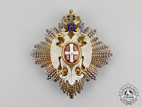 Order of the White Eagle, Type II, Civil Division, I Class Breast Star Obverse