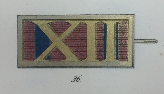 Long Service Decoration, Type II, Silver Bar for XII Years (silvered war material, 1851-1870)