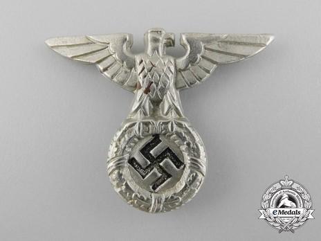 Waffen-SS Metal Cap Eagle Type I Obverse
