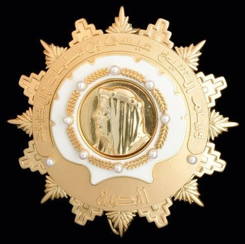 Order of Sheikh Issa (Wisam al-Shaikh 'Isa bin Salman Al Khalifa), Exceptional Class Grand Cordon Breast Star Obverse