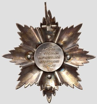 Grand Cross Breast Star (Silver/Gold) Reverse