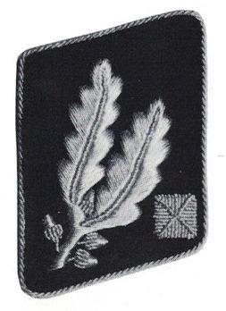 Waffen-SS Pre-1942 Brigadeführer Collar Tabs Obverse