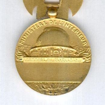 "Gilt Medal (for Long Service, stamped ""1935 L BAZOR,"" 1935-) Reverse"