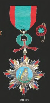 Order of the Striped Tiger, VI Class Officer Badge