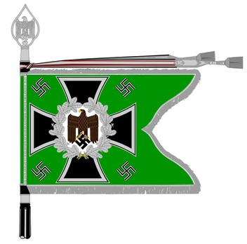 German Army General Army Unit Flag (Mountain troops Motorized and Mounted version) Obverse