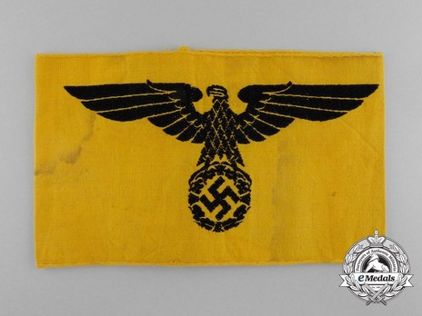 German Army Non-member of the Armed Forces Armband Obverse