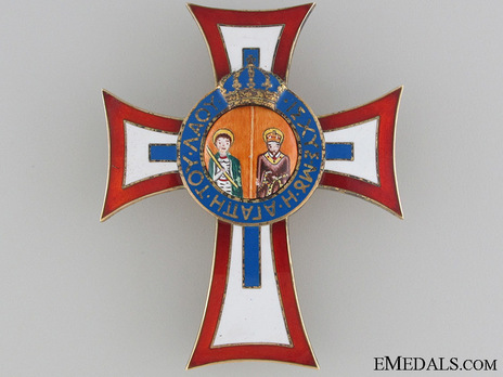Royal Order of St. George and St. Constantine, Collar Breast Star (Civil Division) Obverse
