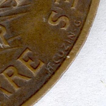 "Bronze Medal (stamped ""TETERGER EDIT"" ""H CUZIN G"") Reverse Detail"