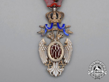 Order of the White Eagle, Type III, Military Division, IV Class Reverse