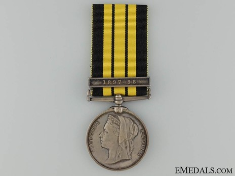 "Silver Medal (with ""1897-98"" clasp) Obverse"
