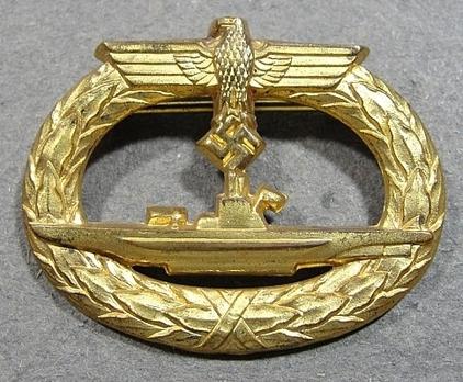 Submarine War Badge, by W. Deumer Obverse