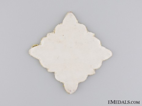 Knight Commander Breast Star (with embroidery) Reverse