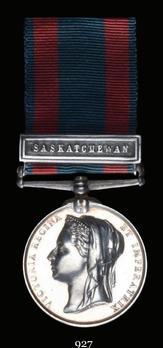 """North West Canada Medal (with """"SASKATCHEWAN"""" clasp)"""