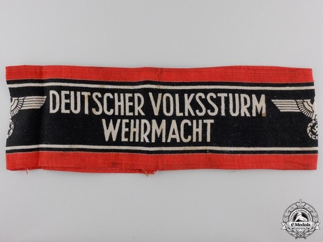 German People's Militia Armband Obverse