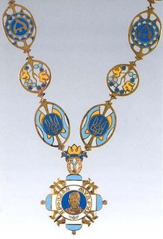 Order of the Prince Yaroslav the Wise I Class Badge Obverse