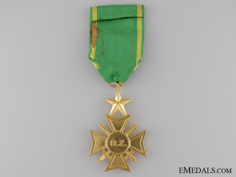Military Cross of Zaire, in Gold Reverse
