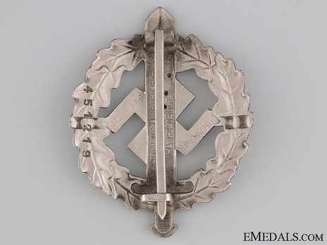 SA Sports Badge, Type II, in Silver Reverse