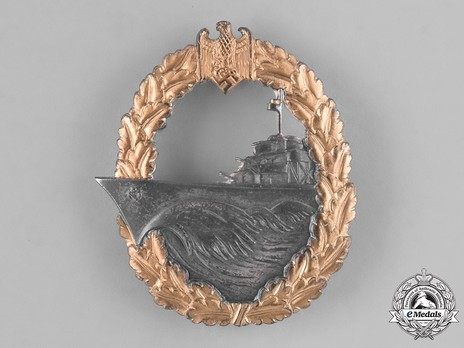 Destroyer War Badge, by B. H. Mayer (in tombac) Obverse