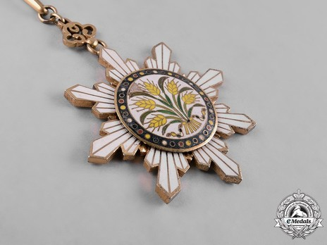 Order of the Golden Grain, II Class Sash Badge Obverse