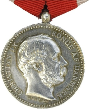 King Christian IX's Memorial Medal in Silver Obverse