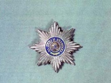Order of Saint Andrew the First-Called I Class Breast Star Obverse