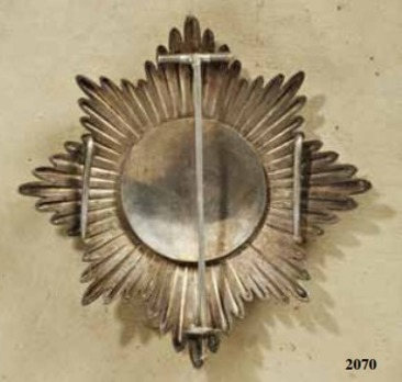 Imperial and Military Order of St Faustin, Commander Cross Breast Star
