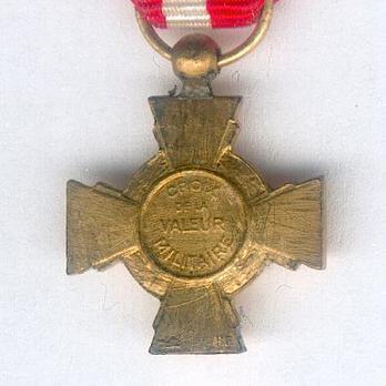 Miniature Bronze Cross (Bronze gilt) Reverse