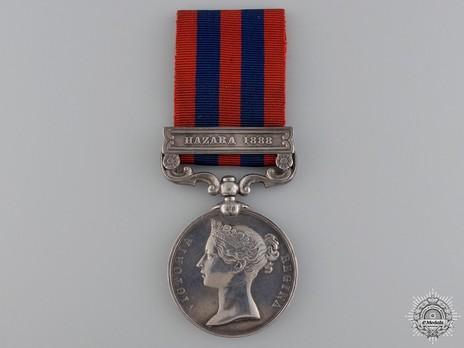 """Silver Medal (with """"HAZARA 1888"""" clasp) Obverse"""