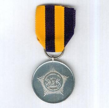 Lesotho Mounted Police Service Long Service and Good Conduct Medal Obverse