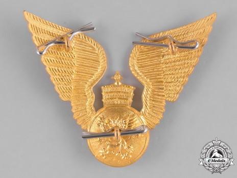 Imperial Ethiopian Air Force Cap Badge Reverse
